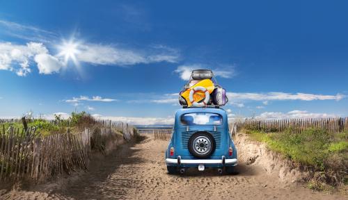 auto na plaży