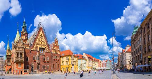 główna ulica we Wrocławiu