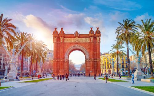 główna ulica w Barcelonie